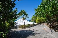 lovely garden of Saint Barth Villa Tortue luxury holiday home, vacation rental