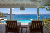 spectacular sea view from Saint Barth Villa Tortue luxury holiday home, vacation rental