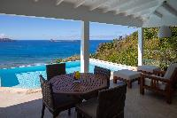 cool lanai of Saint Barth Villa Tortue luxury holiday home, vacation rental