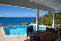 cool balcony of Saint Barth Villa Tortue luxury holiday home, vacation rental
