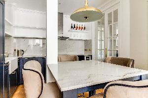 awesome kitchen of Notre Dame - Fleurs luxury apartment