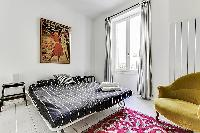 interesting bedroom furnishings in Port Royal - Les Gobelins luxury apartment