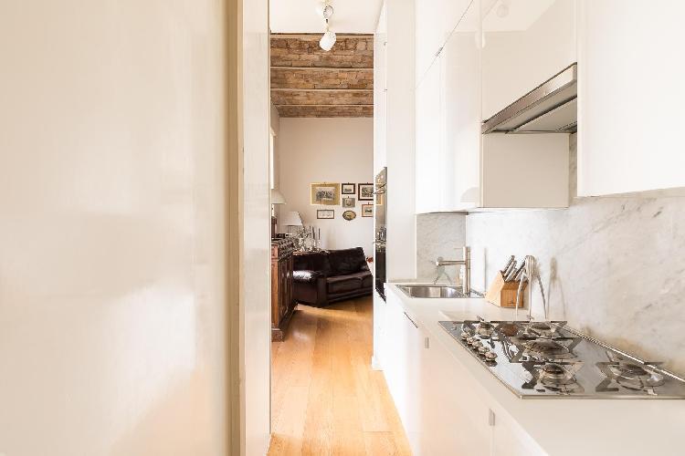 modern kitchen appliances in Vatican-Prati - Via Plauto luxury apartment