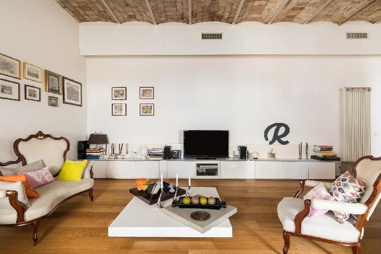 cool living room of Vatican-Prati - Via Plauto luxury apartment