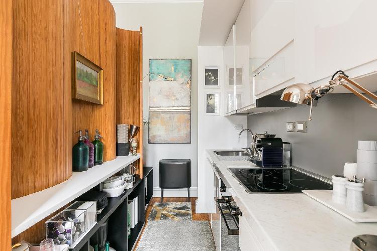 cool modern kitchen of Villa Borghese-Roma Nord - Via Po luxury apartment