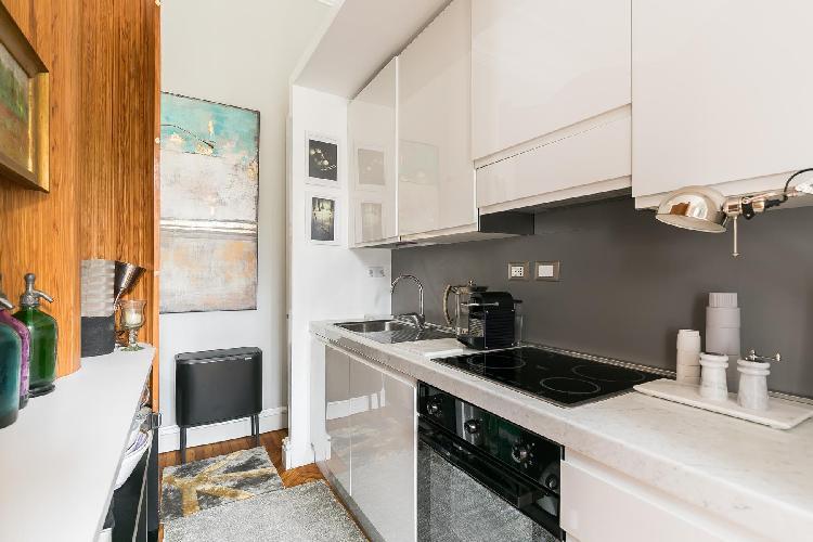 modern kitchen appliances in Villa Borghese-Roma Nord - Via Po luxury apartment