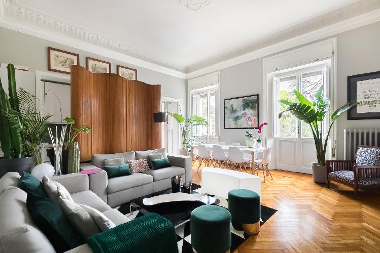delightful sitting area in Villa Borghese-Roma Nord - Via Po luxury apartment