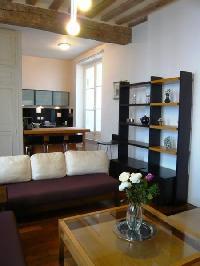 nice living room of Saint Louis Island III luxury apartment