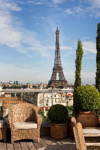 magnificent view from Eiffel Tower - Avenue de la Motte-Picquet luxury apartment