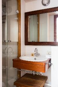 elegant lavatory in Eiffel Tower - Avenue de la Motte-Picquet luxury apartment