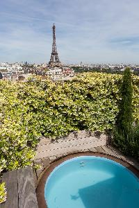 marvelous city view from Eiffel Tower - Avenue de la Motte-Picquet luxury apartment