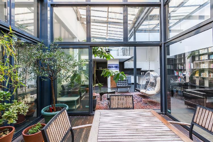 cool skylights of Bastille - Passage de la Bonne Graine luxury apartment