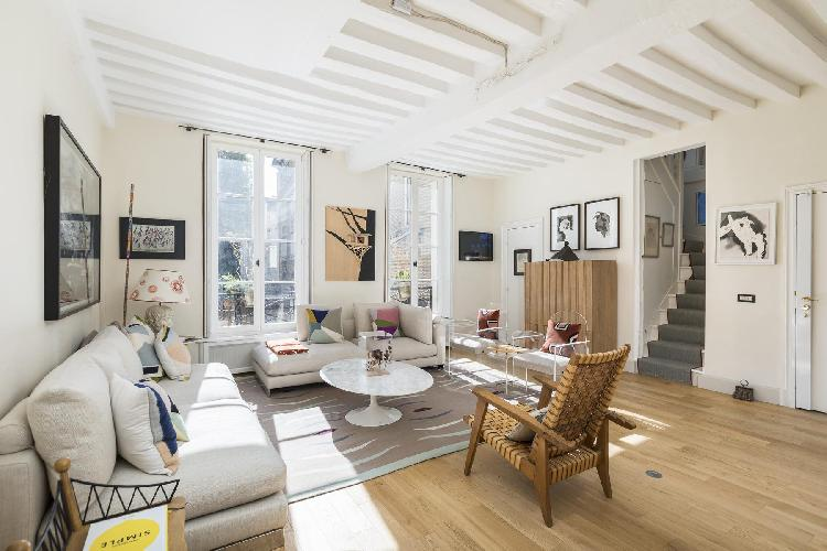 spacious Saint-Germain-des-Prés - Rue Honoré Chevalier Townhouse luxury apartment