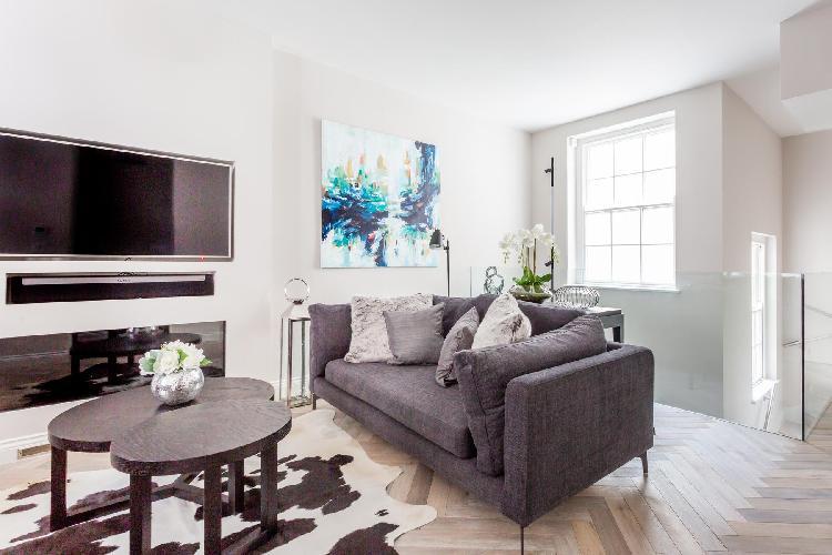 delightful living room of Marylebone - Middleton Place luxury apartment