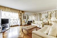 awesome living room of Trocadéro - Poincaré 3 Bedrooms I luxury apartment