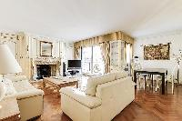 charming living room of Trocadéro - Poincaré 3 Bedrooms I luxury apartment