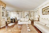 delightful sitting area in Trocadéro - Poincaré 3 Bedrooms I luxury apartment