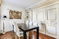 charming dining area in Trocadéro - Poincaré 3 Bedrooms I luxury apartment