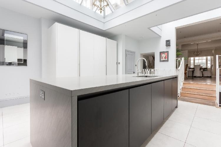 modern kitchen with island at Belgravia - Eccleston Street III luxury apartment