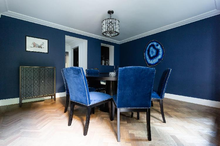 cool dining room of Kensington Church Street VIII luxury apartment