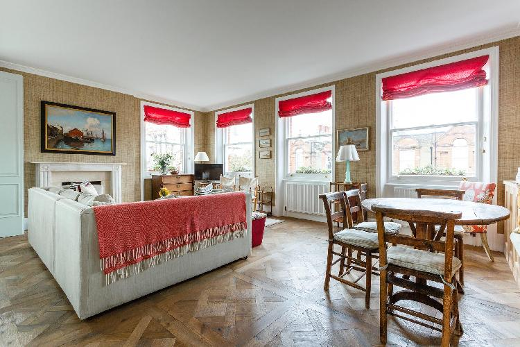 cool living room of South Kensington - Cresswell Gardens III luxury apartment