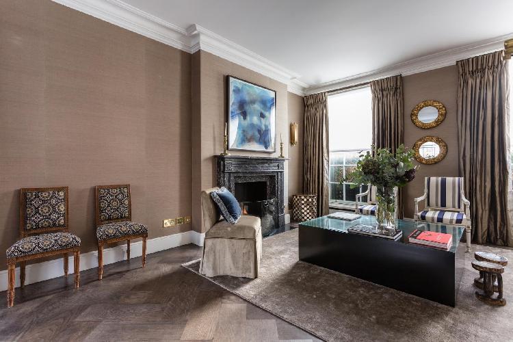 beautiful living room of Belgravia - Eaton Terrace V luxury apartment