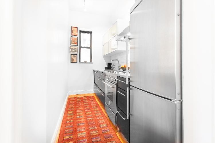 modern kitchen of New York Central Park East luxury apartment