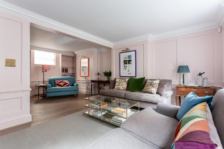cool living room of Westminster - Ormond Yard luxury apartment