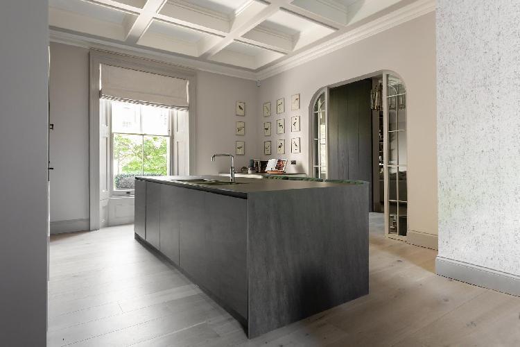 cool kitchen island of South Kensington - Thistle Grove luxury apartment