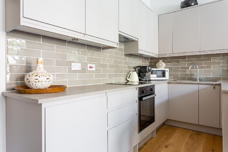 modern kitchen appliances in Hampstead - Adamson Road luxury apartment
