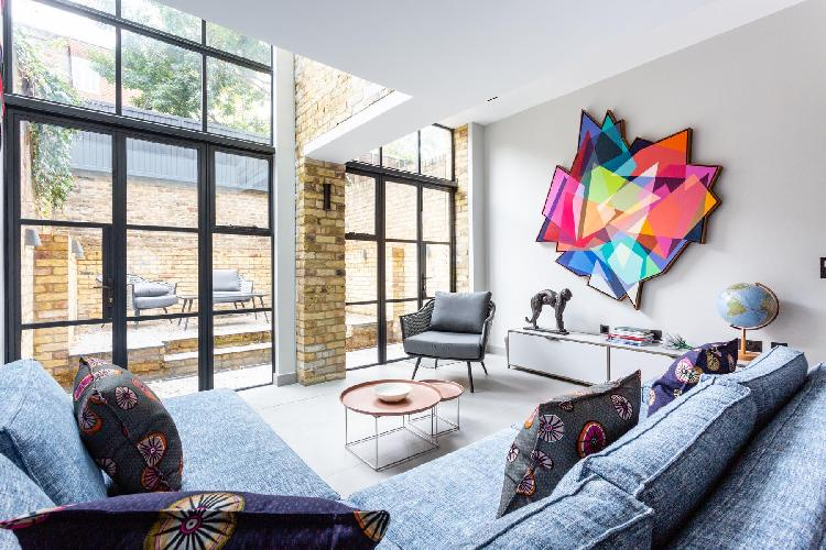 beautiful living room of Chelsea - St Luke's Street V luxury apartment