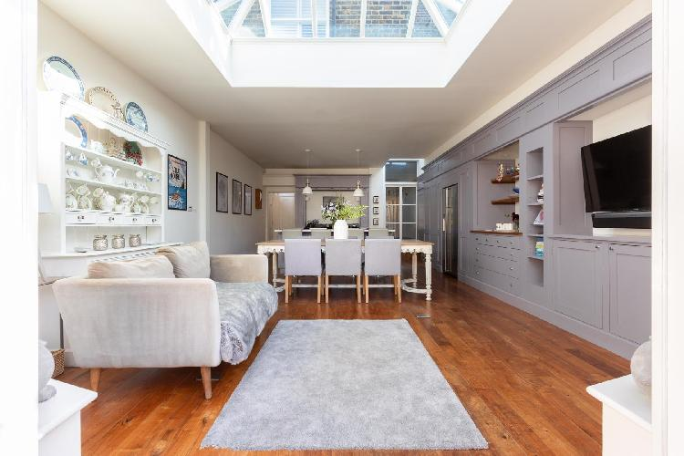 cool skylights of Wandsworth Common luxury apartment