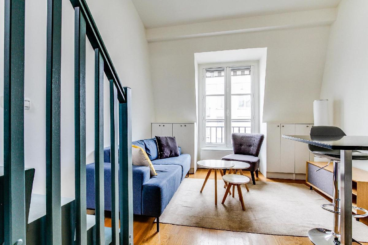 A lovely loft studio apartment in Paris