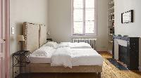 clean linens in Saint Germain des Pres Odeon luxury apartment, holiday home, vacation rental