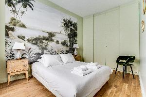 clean bedroom linens in luxury apartment and vacation rental