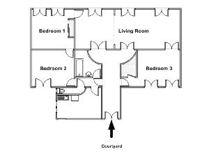layout of Parc Monceau – Rome luxury apartment and vacation rental