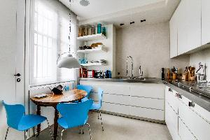 modern kitchen of Ternes luxury apartment, vacation rental