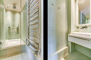 cool rain shower in Ternes luxury apartment, vacation rental