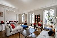 cool sitting room of Saint Germain des Prés - Bonaparte luxury apartment