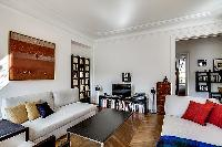 cool living room of Saint Germain des Prés - Bonaparte luxury apartment