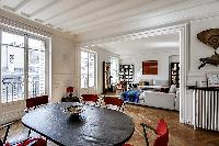 cool dining room of Saint Germain des Prés - Bonaparte luxury apartment