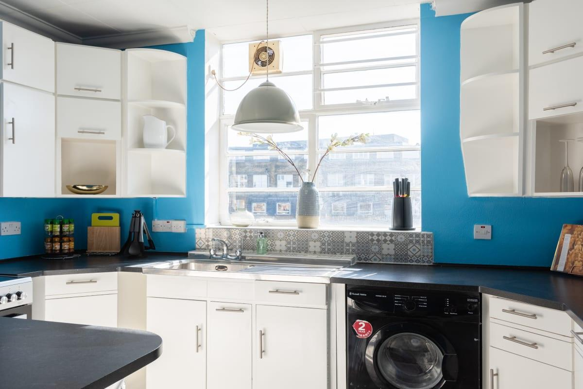 modern kitchen of West End Penthouse - Fitzrovia luxury apartment and vacation rental