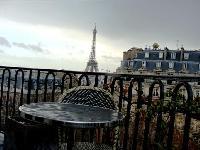 amazing balcony of Tour Eiffel - Place des Etats Unis luxury apartment