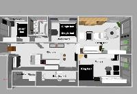 cool layout of Brussels - Louise Stephanie III D luxury apartment