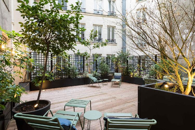cool roof garden of Louvre – Opéra - Rue d'Amsterdam IV luxury apartment