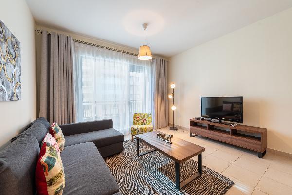 Elegant 1 BR Apartment | Burj Khalifa View | Boulevard Central