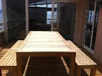 awesome picnic bench at Corsica - Ajaccio Loft luxury apartment