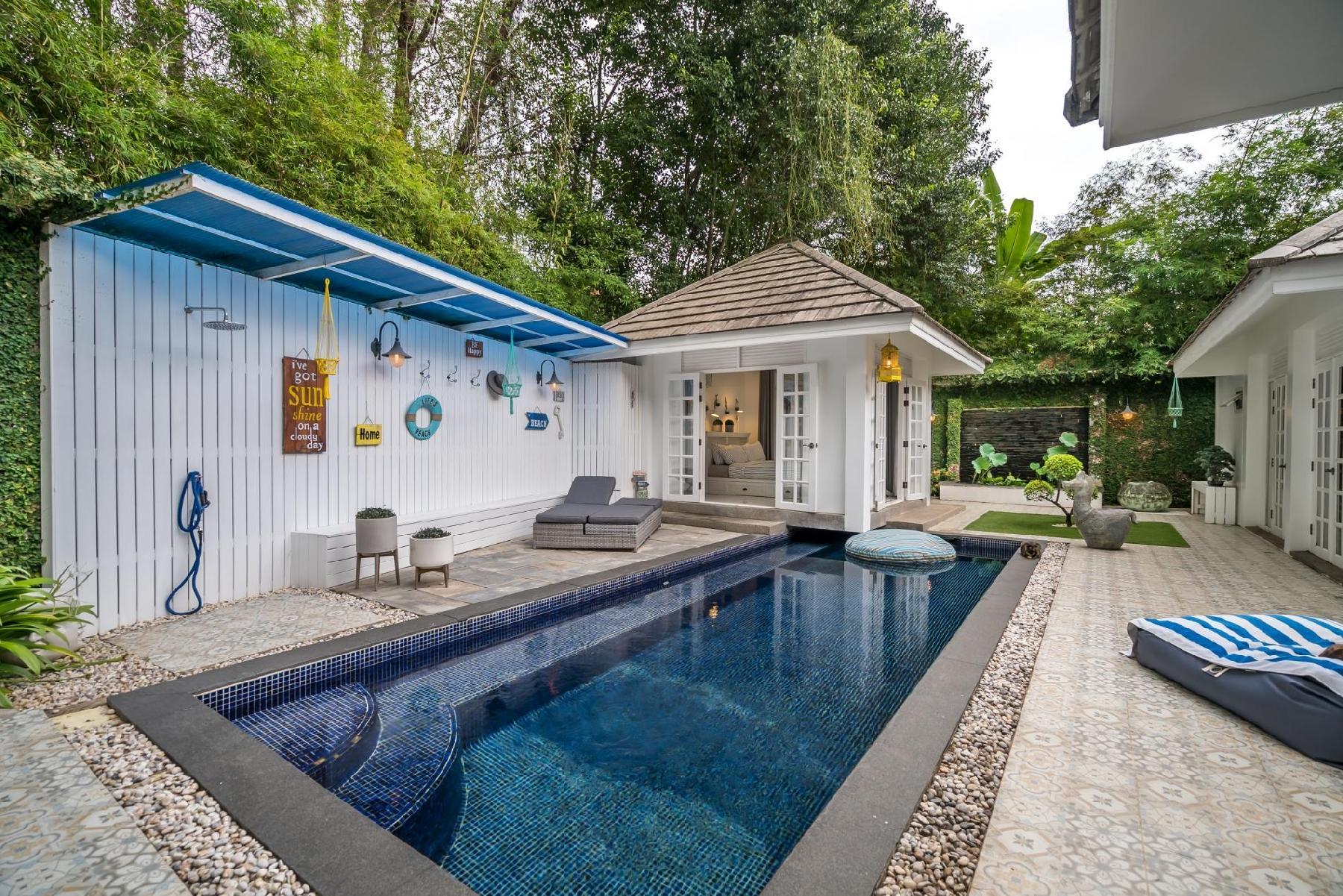 Modern private pool villa 500 meters to Layan beach