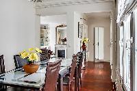 elegant dining area and hallway in a 3-bedroom Paris luxury apartment