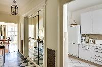 well-equipped kitchen in Paris luxury apartment